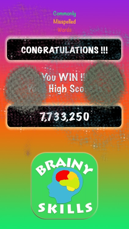 Brainy Skills Commonly Misspelled Words screenshot-3