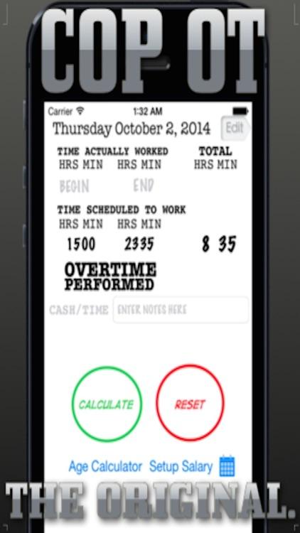 Cop's Overtime Calculator