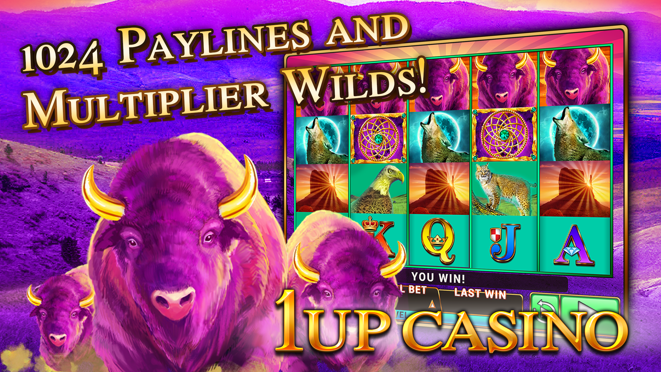 Slot Machines - 1Up Casino - Best New Free Slots Screenshot