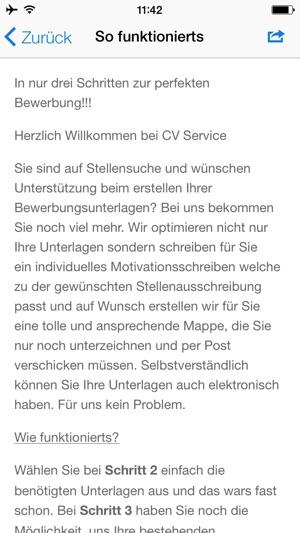 cv service on the app store - Bewerbung Schreiben App