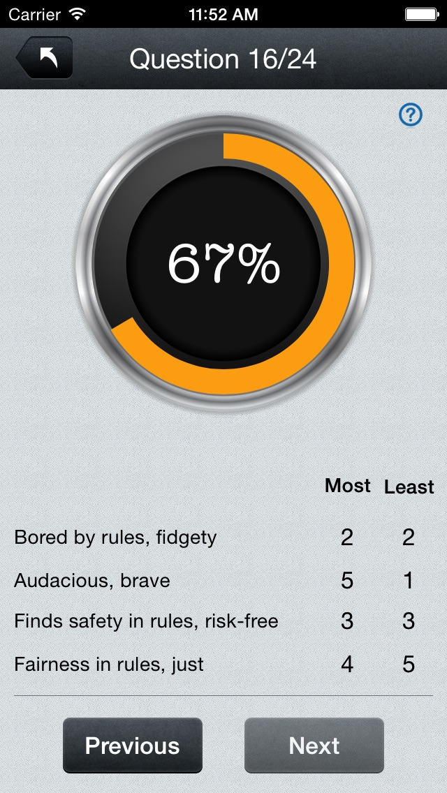 Screenshot for Disc Personality Profile & Traits Assessment Test Pro in South Africa App Store