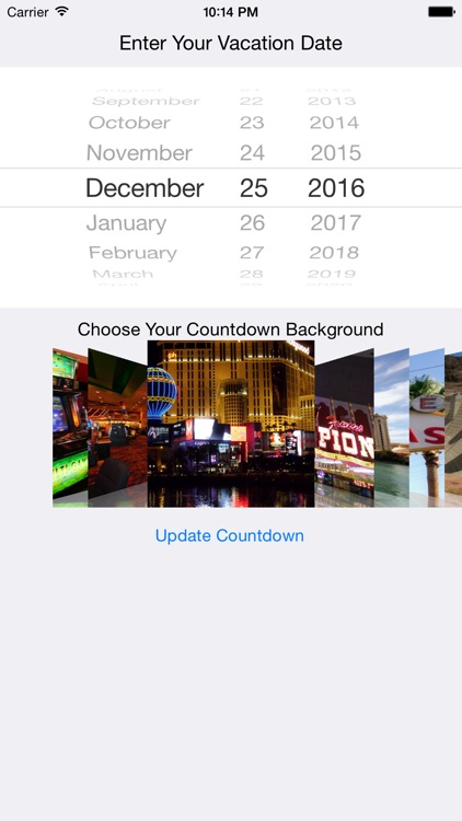 Vegas Vacation Countdown