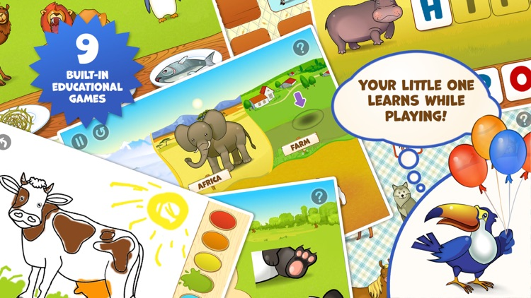 Zoo Playground - Educational games with animated animals for kids screenshot-3