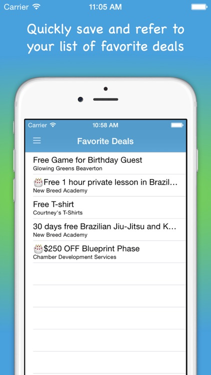 bdayfreeday - Birthday Free Deals locator and Daily Deal connector App screenshot-3