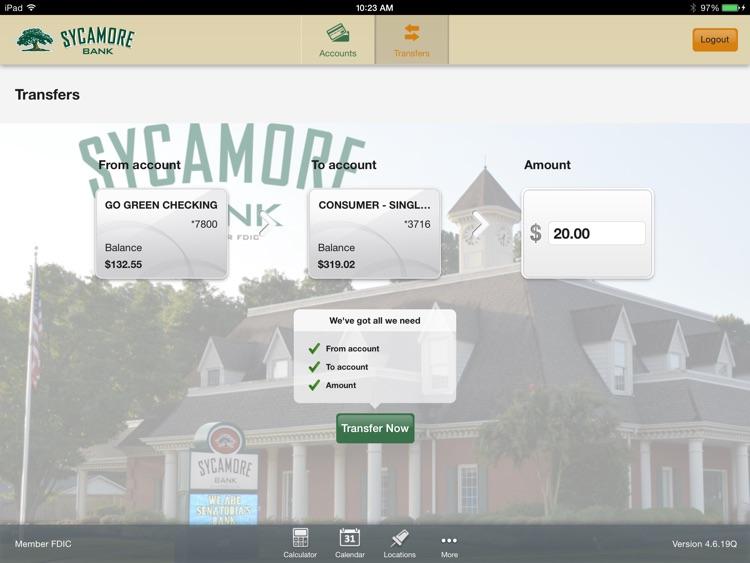 Sycamore Bank for iPad screenshot-3