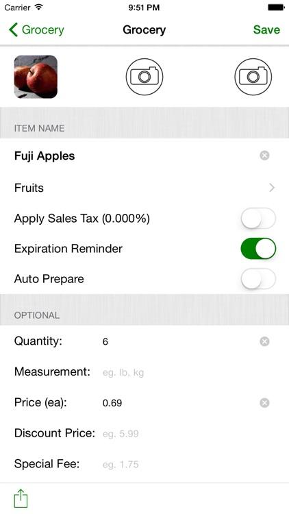 Smart Shopping List app image