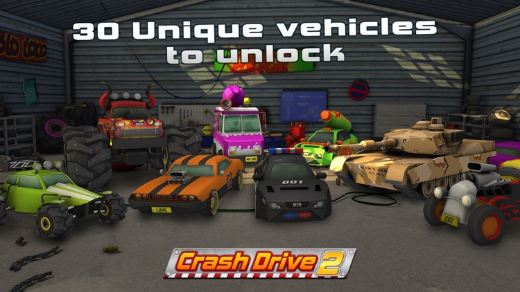 Crash Drive 2: The multiplayer stunt game, with monster trucks & classic muscle cars screenshot-0