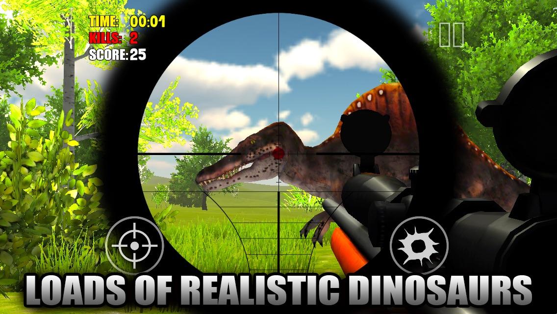 Alpha Dino Sniper 2014 3D FREE: Shoot Spinosaurus, Trex, Raptor Screenshot