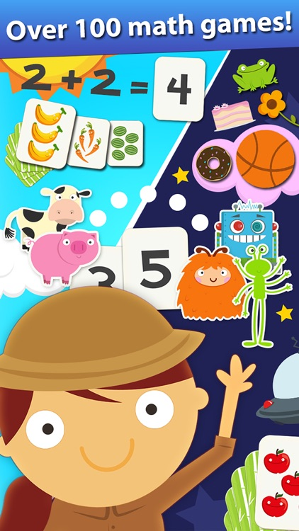 Animal Math Games for Kids in Pre-K, Kindergarten and 1st Grade Learning Numbers, Counting, Addition and Subtraction Free screenshot-0