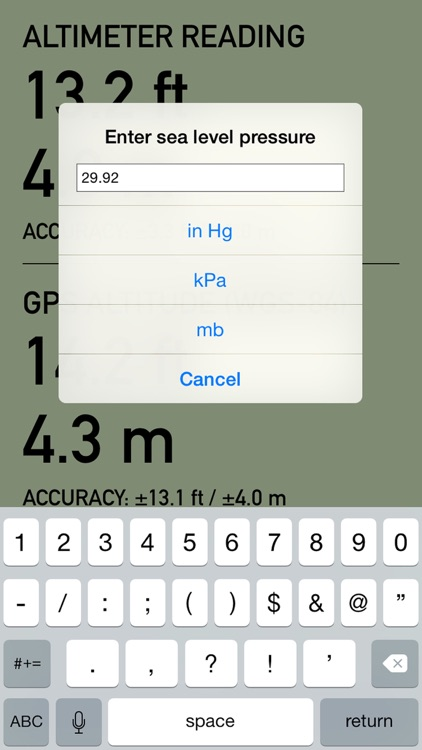 Pro Altimeter - Barometric Altimeter with Manual/GPS/METAR Calibration screenshot-4