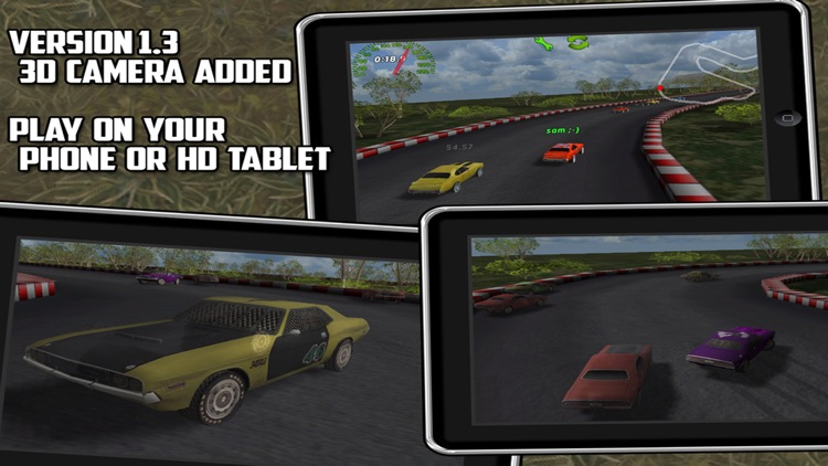 Muscle car: multiplayer racing with track builder