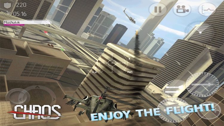 CHAOS Combat Copters HD - №1 Multiplayer Helicopter Simulator 3D screenshot-3