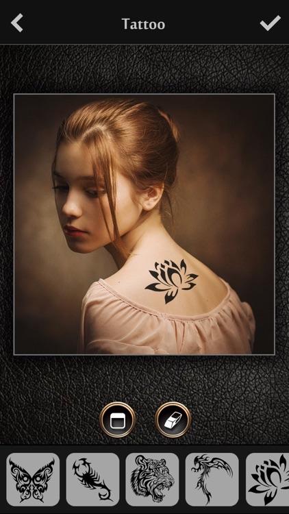 Virtual Tattoo Maker FREE - Photo Designer to add artist tattoos & fonts on yr body screenshot-3