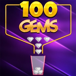 Throw 100 Precious Gem-Stones : Catch Fall-ing Jewels in Glasses Pots