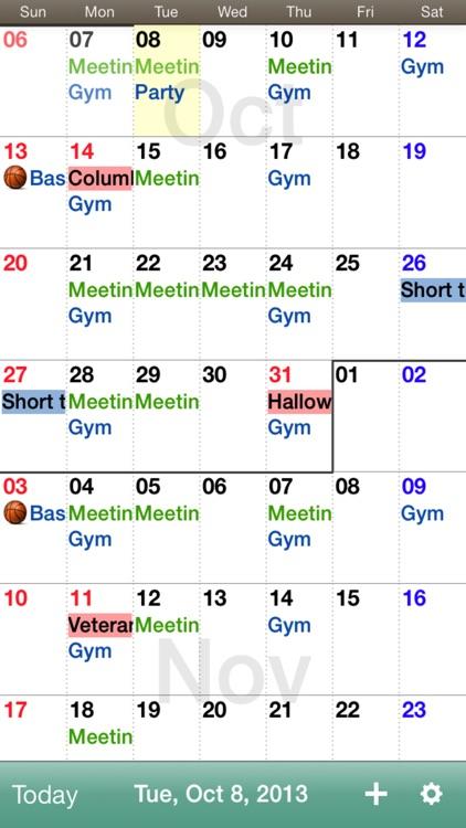 Monthly Calendar Moca By Aill K K Jp