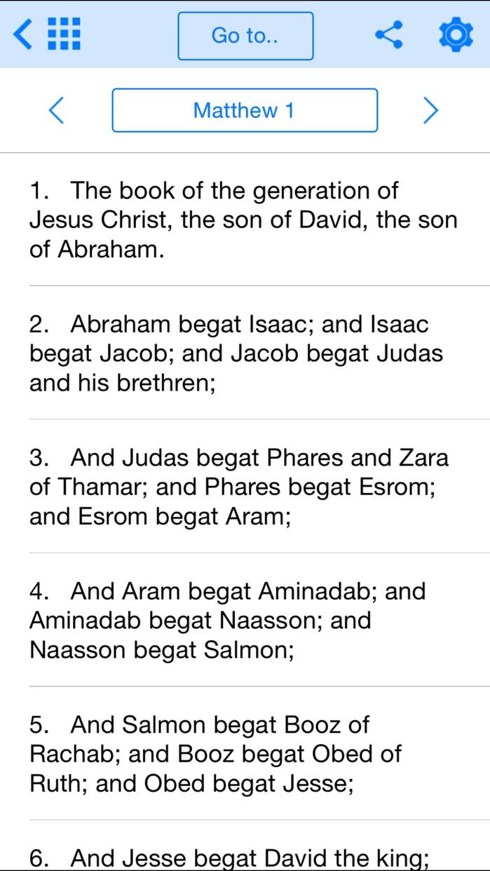 Holy Bible Offline for iPhone Screenshot