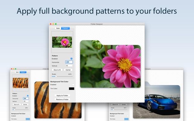 how to put a custom image on folders mac