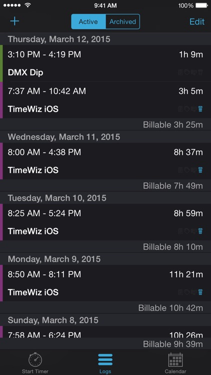 TimeWiz - Time tracking for Individuals and Businesses screenshot-3
