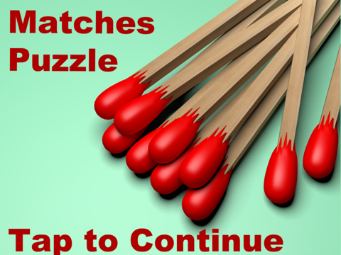 Matches Puzzle for kids to Solve - Classic Girls and Boys