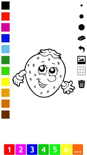 Libro para colorear de frutas y verduras para los niños pequeños y ...