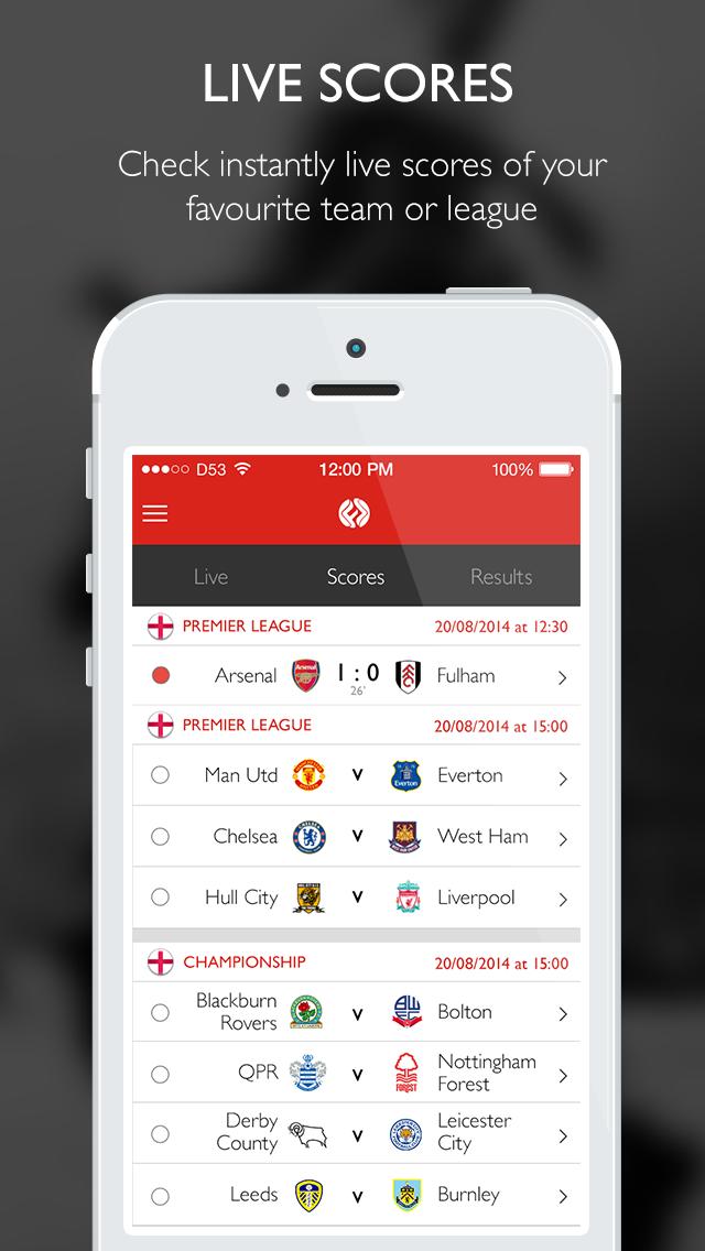 FootballScores.com - Live Football Scores, Results, Tips, News, Free Bets, Best Odds, Euro 2016 screenshot one