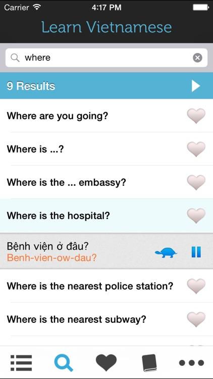 Learn Vietnamese - Phrasebook for Travel in Vietnam screenshot-3