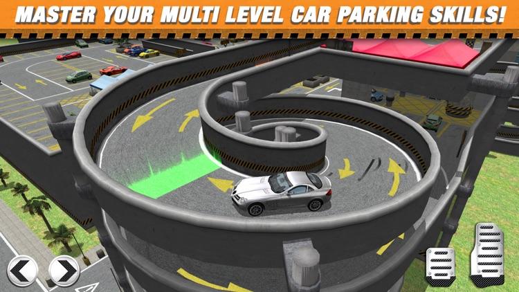 Multi Level 2 Car Parking Simulator Game - Real Life Driving Test Run Sim Racing Games screenshot-4