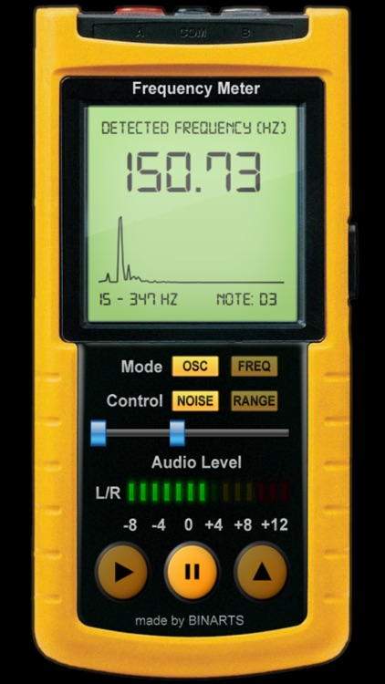 Frequency Meter PRO - Professional tool, Scans frequency from your speaker in REAL TIME, Tune your guitar, piano or scan your voice