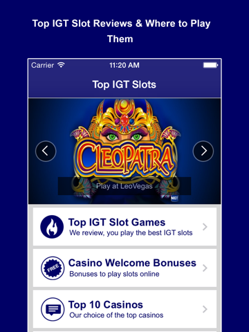 Top IGT Slots - Play the best Vegas slot machine games & get a free online casino bonus-ipad-0