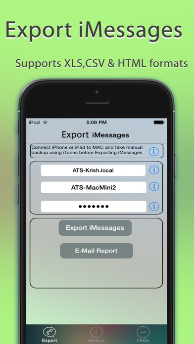 Export Messages review screenshots