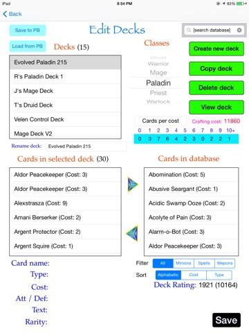 Deck Simulator for Hearthstone для iPad