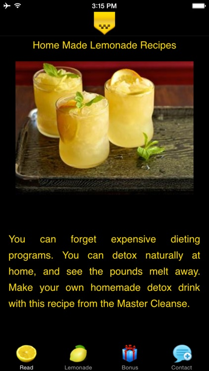 Home Made Lemonade Recipes - Losing Body Fat screenshot-0