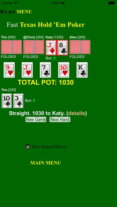 Screenshots of free Fast Poker Texas Hold 'Em - BA.net for iPhone