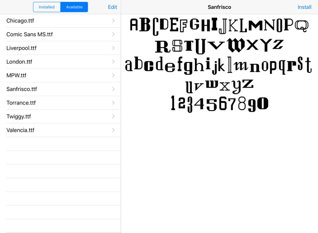 Font Manager on the App Store