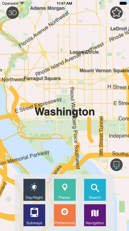 Washington D.C. - Offline Map