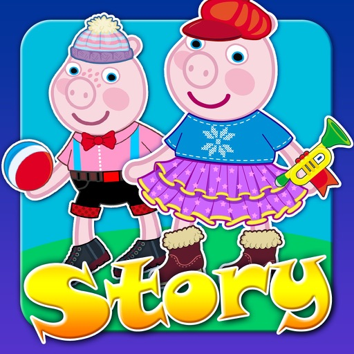 My Interactive Happy Little Pig Story Book Dress Up Time Game - Free App icon