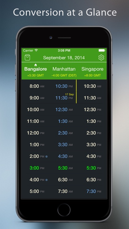 World TimeZlider - Convert time, schedule and share