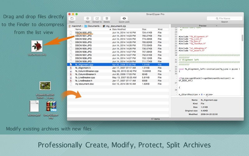 Screenshot #1 for Smart Zipper Pro - Encrypt, Compress and Decompress Zip, 7z, Gzip ... Archive Files