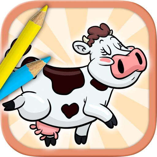 Farm Animals Coloring Book - color and paint pets