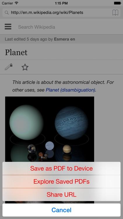 Web2PDF (Web Pages PDF Converter)