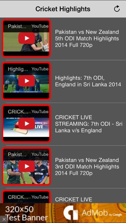 Cricket Highlights Videos - All Previous Match screenshot-3
