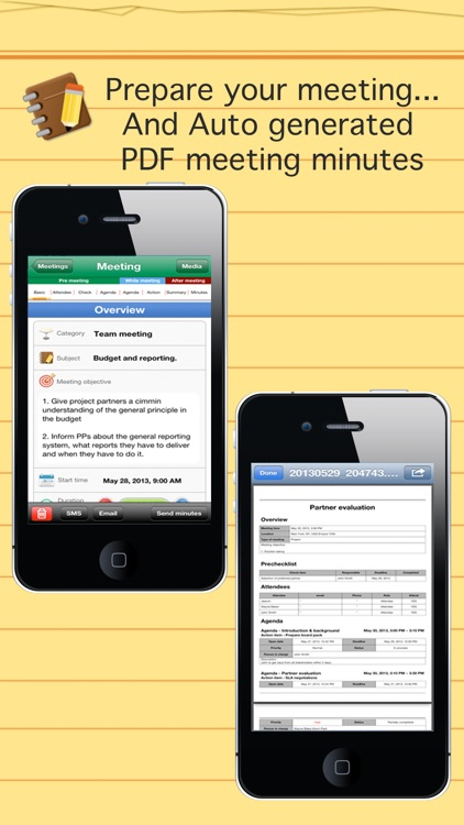 Smart meeting minutes Basic - Schedule check list screenshot-4