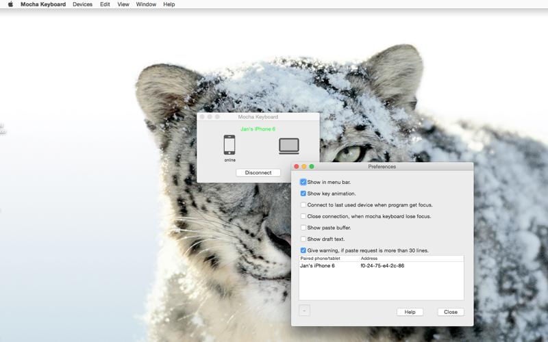 Screenshot of Mocha Keyboard