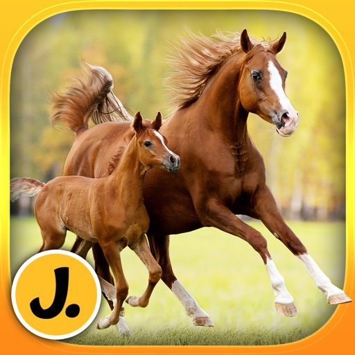 Cute Ponies and Beautiful Horses - puzzle game for little girls and preschool kids
