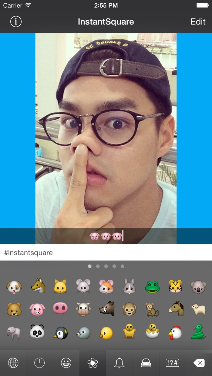 InstantSquare FREE -  Post No Crop Photo (Blur Background) for Instagram Screenshot
