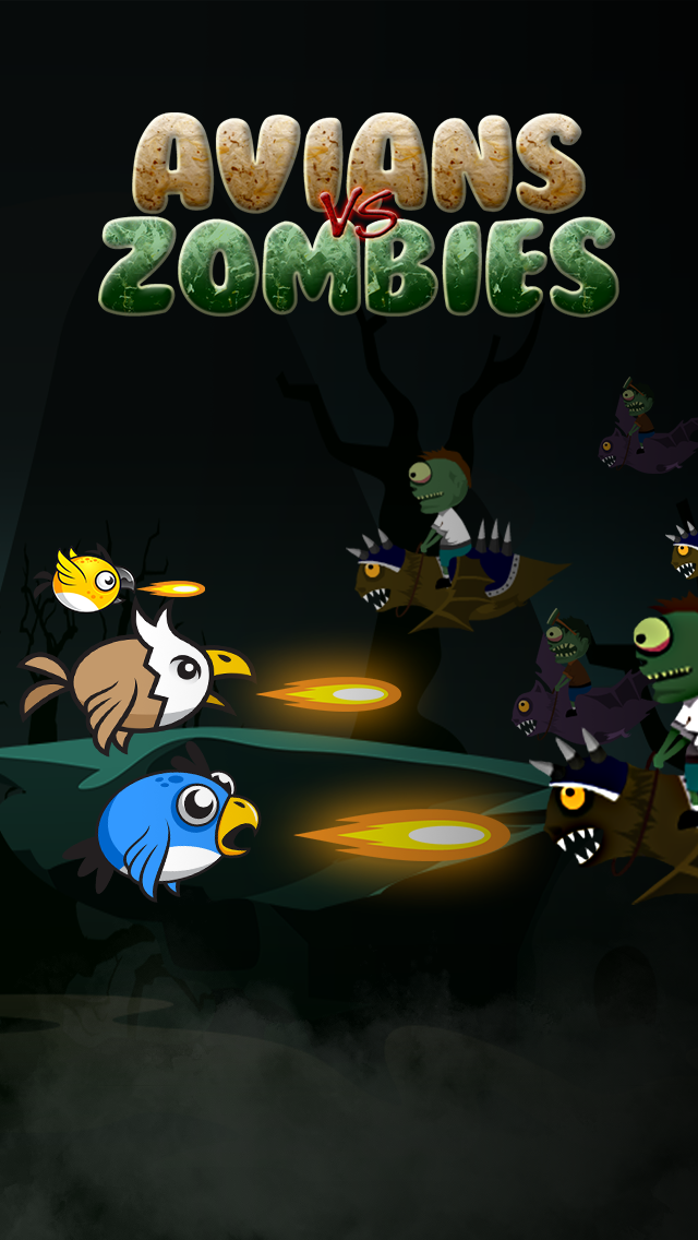 Avians vs. Zombie-s – Ghost Birds Flying on the Graveyard