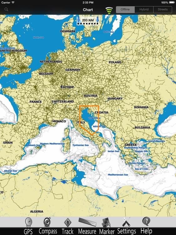 Adriatic N. Nautical Chart Pro screenshot-3
