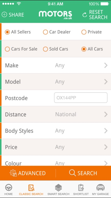 Motors.co.uk car search Скриншоты4