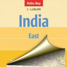 India:East. Tourist map.