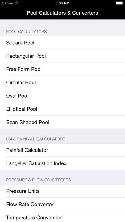 Pool Volume & Size